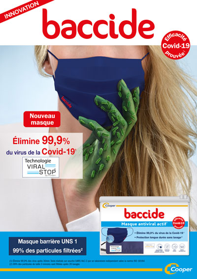 New BACCIDE antiviral mask